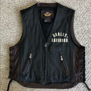 Harley Davidson Leather vest 95th anniversary